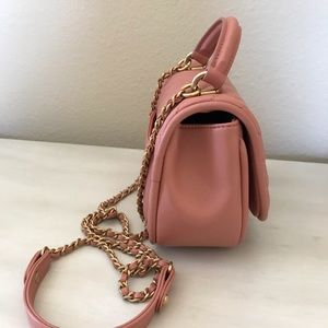 CHANEL Bags - Chanel nude pink chevron crossbody bag